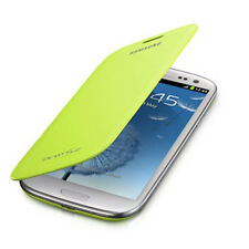 NEW OEM Samsung EFC-1G6FMEGSTA Neon Green Flip Case Cover Galaxy S3 III RETAIL