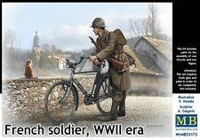 Mas35173-Masterbox 1:35 - soldado francés, de época WWII