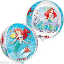 "16 ""Disney Princess Ariel Sirenetta partito Globe ORB BALL Shape Foil Balloon"