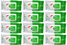 12 x DETTOL ALL PURPOSE ANTIBACTERIAL MULTI SURFACE WIPES 50'S
