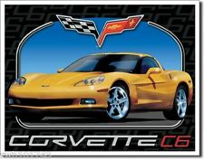 Corvette C6 TIN SIGN sport car vtg chevrolet garage metal poster wall decor 1248