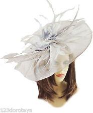 GREY Fascinator Hat for weddings/ascot/proms