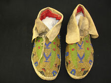 A pair of Souix Beaded Moccasins, Native American Indian, Circa: 1900