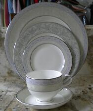 NEW NORITAKE BONE CHINA 5PC PLACE SETTING #4789 SANDERVILLE WEDDING BRIDAL GIFT