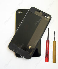 iPhone 4 Black Rear Back Cover Glass - AT&T - High Quality - Replacement for OEM