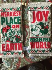 Disney Christmas Mickey& Minnie Reversible Door Hanger/banner New
