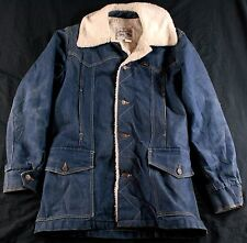 Vintage LEE Storm RIDER Denim JACKET Trucker SHERPA Men's M Medium USA Made