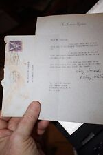 Signed personal letter from Betsy Roosevelt Whitney to Govt Secret Service WWII