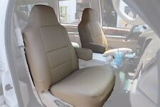 FORD EXCURSION 2000-2005 BEIGE S.LEATHER CUSTOM MADE FIT FRONT SEAT COVER
