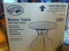 New LED SOLAR Lights Patio Bistro Table by Hampton Bay