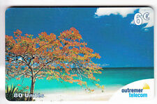 DOM-TOM  TELECARTE / PHONECARD  .. ILE GUADELOUPE 6€ OUTREMER ARBRE PLAGE AA61