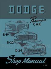 Best Dodge Car Shop Manual 1941 1942-1946 1947 1948 D19 D22 D24 Repair Service