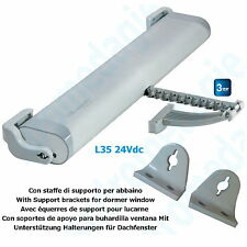 LIWIN 350N 24V GREY + SUPPORT BRACKETS FOR DORMER WINDOW GREY Skylights Motor