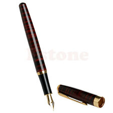 Hot baoer 388 Red and Black Stripes Medium Nib Fountain Pen