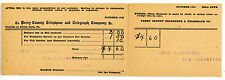 New Bloomfield PA -PERRY COUNTY TELEPHONE & TELEGRAPH CO BILL- Postcard