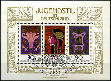West Germany 1977 SG#MS1815 Nouveau Art Cto Used M/S Sheet #D41612