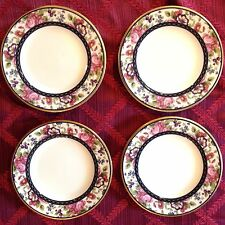 4 NEW Royal Doulton Centennial Rose England China Bread Butter Plates Dishes
