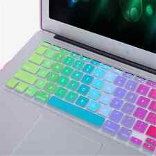 "For Apple Macbook Air Mac 13""15""17"" Silicone Rainbow Keyboard Skin Cover New"