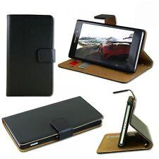 Tasche Wallet Schwarz für Sony Xperia Z3 Compact D5803 Handy Case Hülle Zubehör