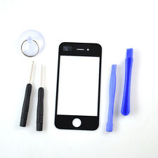 Front Outer Screen Glass Cover Repair Part Replacement+Tools For iPhone 4 Black
