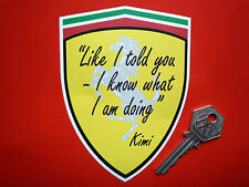 KIMI RAIKKONEN I Told You I Know What I Am Doing F1 FUNNY CAR sticker Formula 1