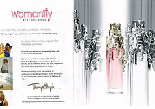 PUBLICTE  2011   WOMANITY   key collection ( 2 pages)  THIERRY MUGLER  parfum