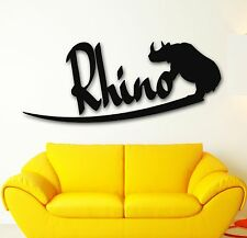 Wall Stickers Vinyl Decal African Rhino Animal Nature Tribal (ig222)