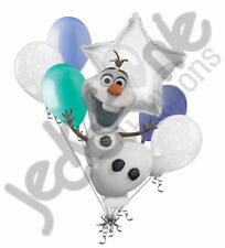 7 pc Disney Frozen Snowman Olaf Birthday Balloon Bouquet Party Decor Princess