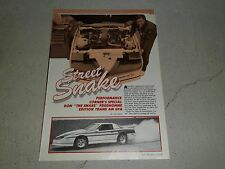 1989 PONTIAC TRANS AM GTA ARTICLE / AD