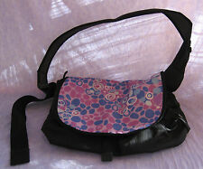 L.L. Bean Messenger Computer Bag Purple Pink Bubbles Lots of Compartments 16x14""