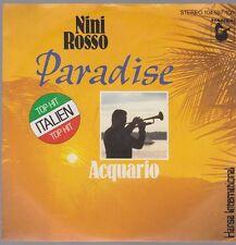 """7"""" Nini Rosso Paradise / Acquario 80`s Ariola Hansa (Top Hit Italien)"""