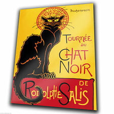 METAL SIGN WALL PLAQUE - Le Chat Noir The Black Cat French Vintage poster print