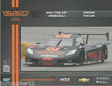 2013 MAX ANGELLELI & JORDAN TAYLOR #10 VELOCITY GRAND AM ROLEX SERIES POSTCARD