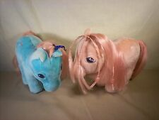 Vintage 1980's My Little Pony Hasbro Softies Cotton Candy and Bowtie