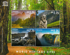 Ghana 2013 MNH UNESCO World Heritage Site I 4v M/S Victoria Falls Trees Stamps