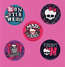 10 Monster High - Skull - Large Stickers - Party Favors