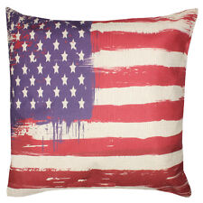 NEW! US Flag USA Throw Pillow Indoor Outdoor Red White Blue America Cushion Gift