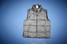NWT SILVER RIDER Bubble Down Vest Jacket Men's L gray & black reversable