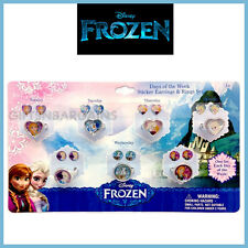 Disney Frozen Days of the Week Earring Ring set Girls Christmas Stocking Filler