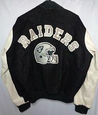 vintage los angeles raiders letterman varsity jacket oakland las vegas large nfl