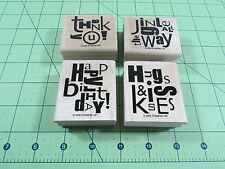 Stampin Up Alphabet Soup Stamp Set of 4 Retired Christmas Thank You Birthday