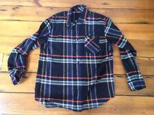 Nike 6.0 Soft Madras Plaid Grunge Flannel Button Down Mens Shirt 100% Cotton L