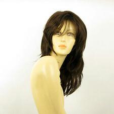 mid length wig for women chocolate copper wick ref NINON 6h30 PERUK