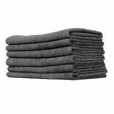 240 PACK NEW MICROFIBER TOWELS CLEANING PLUSH 15x15 300 GSM LINT FREE BLACK