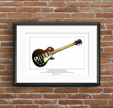 Pete Townshend's Gibson Les Paul #5 Limited Edition Fine Art Print A3 size