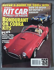 KIT CAR SPECIALTY AUTOMOTIVE MAGAZINE 1992 SEPTEMBER COBRA BONDURANT FIERO