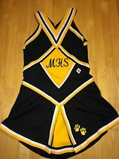 Cheerleading Cheer Pom One Piece Uniform 36 Small Mhs Yellow Black