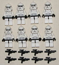 LEGO LOT OF 8 EPISODE 3 STAR WARS CLONE TROOPERS MINIFIGURES WITH GUNS BLASTERS
