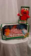 NWT 1996 Sesame Street Lot Sing & Snore Ernie Musical Baby Elmo Toy toddler TYCO