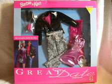 Very Rare Barbie & Ken Hip Hot Party Look Great Date Fashions Outfit 1991 NEW
